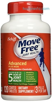 ihocon: Move Free Glucosamine Chondroitin MSM and Hyaluronic Acid Joint Supplement, 120 Count
