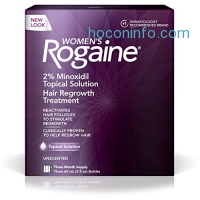 ihocon: Women's Rogaine Treatment for Hair Loss & Hair Thinning Minoxidil Solution, Three Month Supply