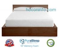 ihocon: PuraSleep 10 Cool Flow Deluxe Gel-Enhanced Memory Foam Mattress, Beige, Queen