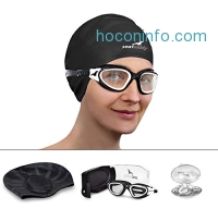 ihocon: SealBuddy Panoramic Premium Swim Gear - Goggles + Cap + Ear & Nose Plugs