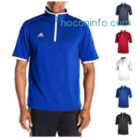 ihocon: adidas Men's CLIMALITE Shockwave Quarter Zip Jacket Shirt Golf Coaching Pullover