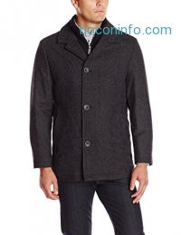 ihocon: Nautica Men's Herringbone Walker Coat with Bib