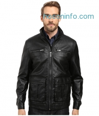 ihocon: Kenneth Cole New York Pebble Leather PU Jacket