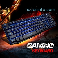 ihocon: Masione Multi-Color Multimedia USB Wired Gaming Keyboard with LED Illumination Backlit 遊戲鍵盤