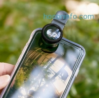ihocon: Aerb 3-in-1 Universal Clip Lens - Wide Angle & Macro Lens and a Fish Eye Lens