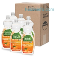 ihocon: Seventh Generation Natural Dish Liquid, Clementine Zest & Lemongrass Scent, 25-Ounce Bottles (Pack of 6)