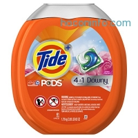 ihocon: Tide PODS Plus Downy 4 in 1 HE Turbo Laundry Detergent Pacs, April Fresh Scent, 61 Count Tub