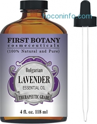 ihocon: First Botany Lavender Essential Oil with a Glass Dropper, 4 oz薰衣草精油