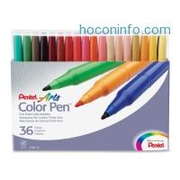 ihocon: Pentel Color Pen, Set of 36, Assorted (S360-36)