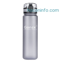 ihocon: Gonex Sports Tritan Water Bottle 18oz 600ml, Leak Proof Flip Top Lid, Opens With 1-Click, Eco Friendly BPA-Free Plastic for Gym, Yoga, Running, Outdoors, Cycling, and Camping