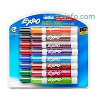ihocon: Expo Low-Odor Dry Erase Markers, Chisel Tip, 16-Pack, Assorted白板筆