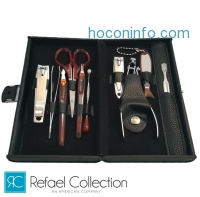 ihocon: Refael Collection Deluxe 10 Piece Manicure Set with Carrying Case