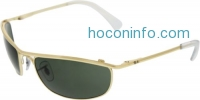 ihocon: Ray-Ban雷朋男士太陽眼鏡 Men's Olympian RB3119-001-59 Gold Oval Sunglasses