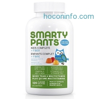 ihocon: SmartyPants Kids Complete Fiber Multivitamin Omega 3 EPA and DHA Fish Oil Vitamin D3 Methyl B12 Dietary Supplements, 120 Counts