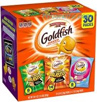 ihocon: Pepperidge Farm Goldfish Variety Pack Bold Mix, (Box of 30 bags)小魚餅乾