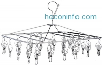 ihocon: Stainless Steel Laundry Clothesline Hanging Rack不銹鋼曬衣架