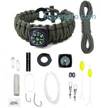 ihocon: MSsmart Outdoor 17-piece Survival Bracelets 野外求生手鍊