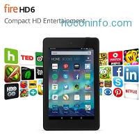 ihocon: Fire HD 6 Tablet, 6 HD Display, Wi-Fi, 8 GB - Includes Special Offers, Black