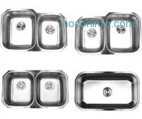 ihocon: Contempo Living 18-904 32 inch Undermount 5050 Double Bowl 18 Gauge Stainless Steel Kitchen Sink,