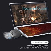 ihocon: Opolar LC06 Laptop Fan Cooler with Temperature Display筆電冷卻扇-温度顯示