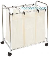 ihocon: AmazonBasics 3-Bag Laundry Sorter 三格髒衣推車袋