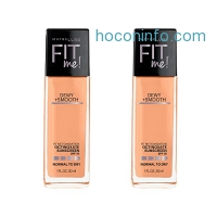 ihocon: Maybelline New York Fit Me Dewy and Smooth Foundation, Sandy Beige, 2 Count, (Packaging May Vary)