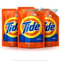 ihocon: Tide Smart Pouch Original Scent HE Turbo Clean Liquid Laundry Detergent, Pack of 3, 48 oz. pouches, 93 loads