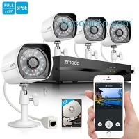 ihocon: Zmodo 720P HD Home Security Camera System 4 x 720P Outdoor Night Vision Surveillance Camera 1TB Hard Drive居家防盜監視系統