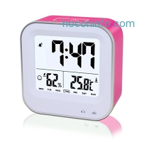 ihocon: Samshow Rechargeable Alarm Clock with Temperature Humidity, Date
