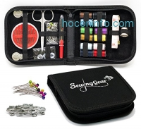 ihocon: Compact Sewing Kit for Home, Travel, Camping & Emergency. Best Gift for Kids, Girls, Beginners & Adults. Quality Premium Sew Supplies Set. Expansive Case with 100 Extra Pins & Safety Pins