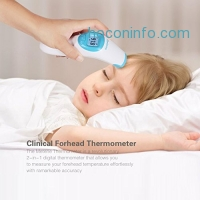 ihocon: [CE及FDA核可] Metene Digital Infrared Non-Contact Forehead Thermometer 紅外線免接觸前額温度計