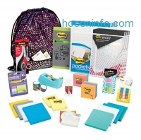 ihocon: Post-it & Scotch Treasure Tote Of Notes, Scissors, Tape, Flags & Pockets, Assorted Colors