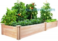 ihocon: Greenes Cedar Raised Garden Kit 2 Ft. X 8 Ft. X 10.5 In. 架高花圃