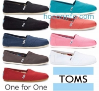 ihocon: Toms女鞋 Classic Canvas Womens Slip-On Flat Shoes Authentic