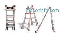 ihocon: Little Giant 22' Ladder or 17' Ladder w/ Free Wall Rack