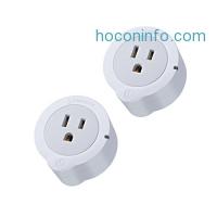 ihocon: Etekcity 2 Pack Mini Smart Plug Outlet, WiFi Wireless Energy Monitoring, Works with Alexa智慧插座