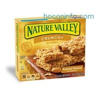 ihocon: Nature Valley Granola Bars, Crunchy, Roasted Almond, 6 Pouches - 1.5 oz, 2-Bars Per Pouch (Pack of 12)