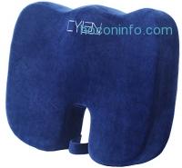ihocon: CYLEN HOME Memory Foam Bamboo Charcoal Infused Ventilated Orthopedic Seat Cushion 記憶棉坐墊
