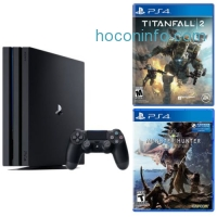 ihocon: Playstation 4 Pro 1TB console + Monster Hunter : World + Titanfall 2