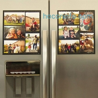 ihocon: Wind & Sea Magnetic Picture Collage Frame  for Refrigerator, 2-Pack冰箱磁性相框