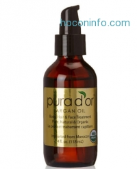 ihocon: Pura d'or 100% Pure & USDA Organic Argan Oil (4 fl. oz.) For Face, Hair, Skin and Nails