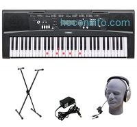 ihocon: Yamaha EZ-220 61-Lighted Key Portable Keyboard Package with Headphones, Stand and Power Supply