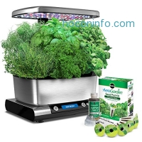 ihocon: Miracle-Gro AeroGarden Harvest Elite with Gourmet Herb Seed Pod Kit, Stainless Steel