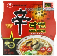 ihocon: Nongshim Shin 碗裝韓國辣泡麵 Big Bowl Noodle Soup, Gourmet Spicy, 3.03 Ounce (Pack of 12)