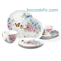 ihocon: Lenox 12 Piece Butterfly Meadow Hydrangea Set, White