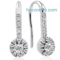 ihocon: 1/4ct Diamond Earrings White Gold