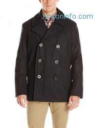ihocon: Tommy Hilfiger Men's Wool-Blend Melton Classic Peacoat