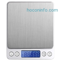 ihocon: Etekcity 2000g Digital Multifunction Pocket Kitchen Scale, Stainless Steel 不銹鋼廚用電子秤