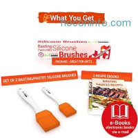 ihocon: mKitchen Orange Silicone Oil Brush Set of 2 + 2 FREE Recipe eBooks矽膠刷