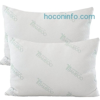 ihocon: Essence of Bamboo Gel Fiber Pillows - Down Alternative, Hypoallergenic .9 Micro Denier Filled Pillows with Bamboo Derived Rayon / Poly Cover (Queen 2-Pack, Extra Soft) Crafted in the USA